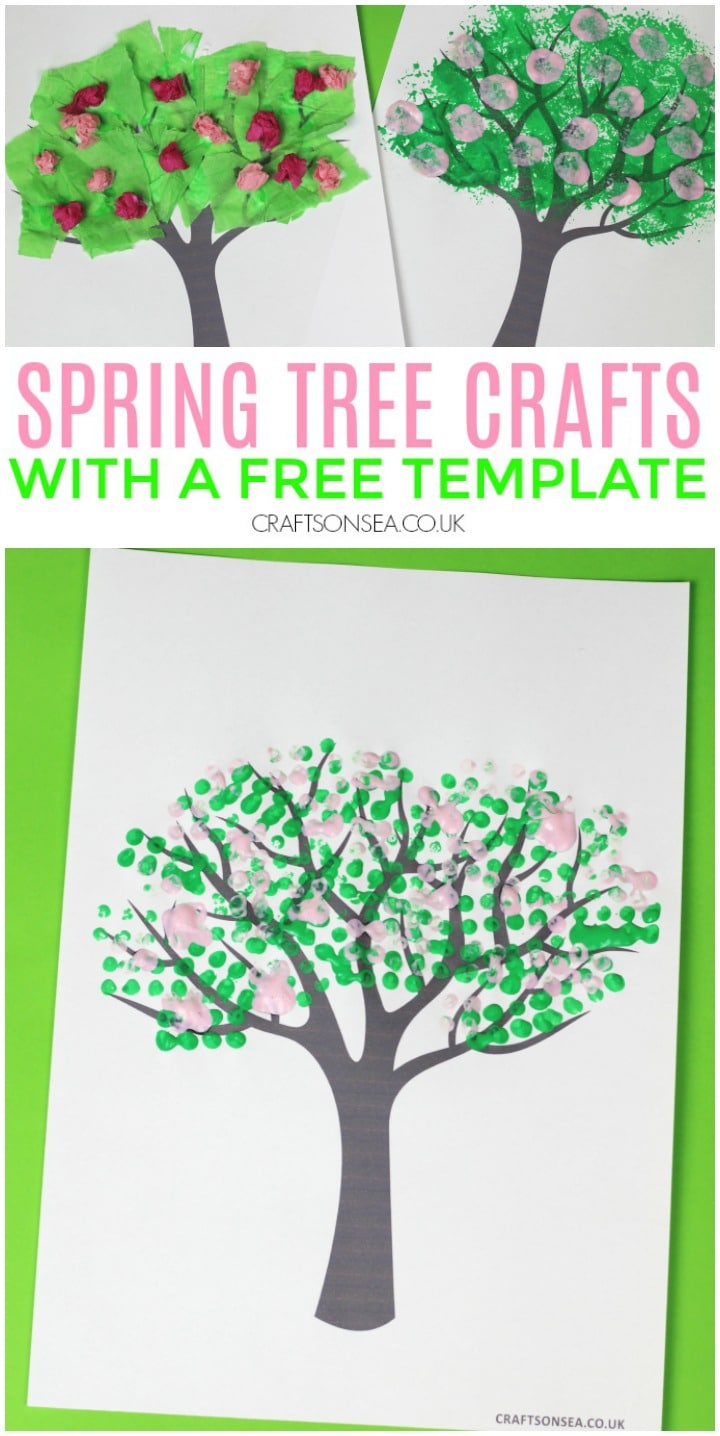 spring tree crafts for kids