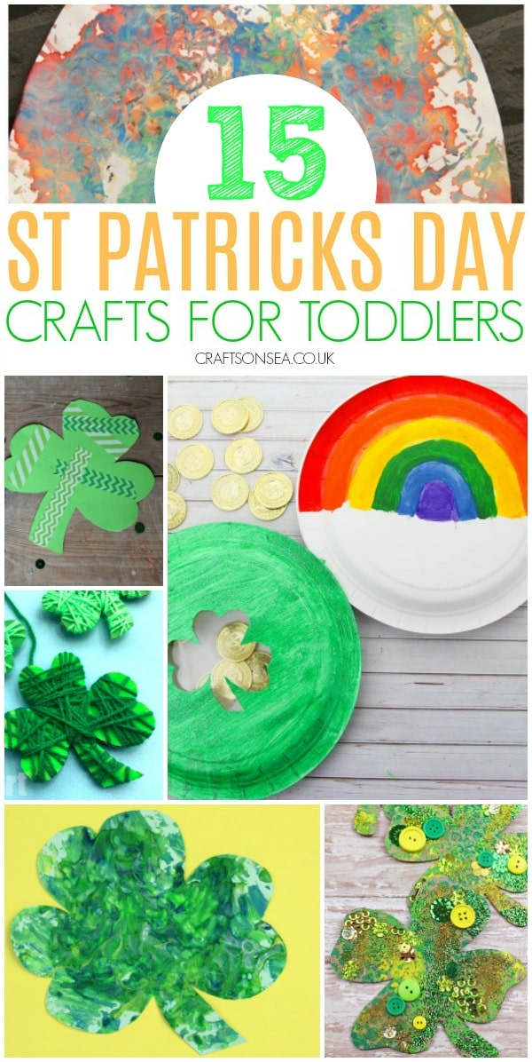 St Patricks Day crafts for toddlers #kidscrafts #toddler