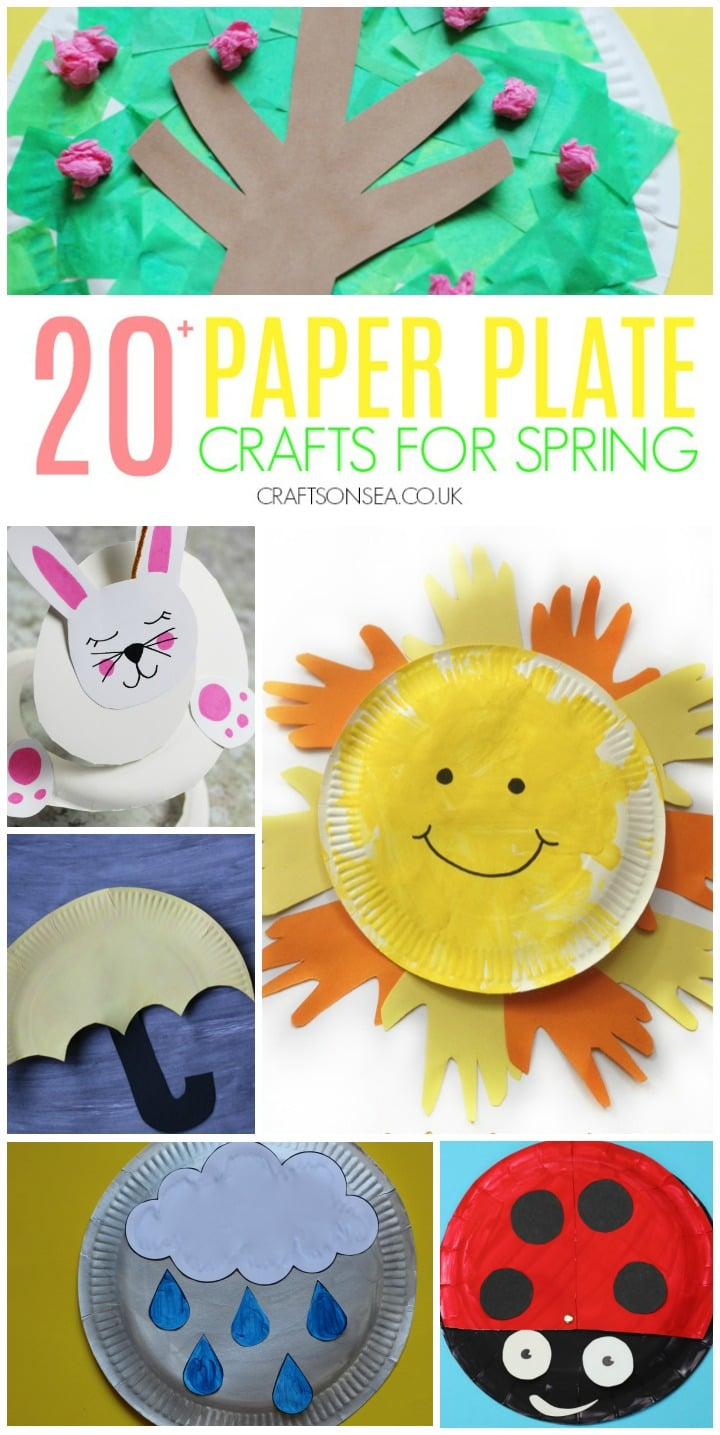 paper plate crafts for spring sun rain bunny and spring tree crafts
