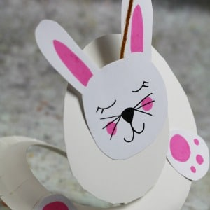 paper plate rabbit 300