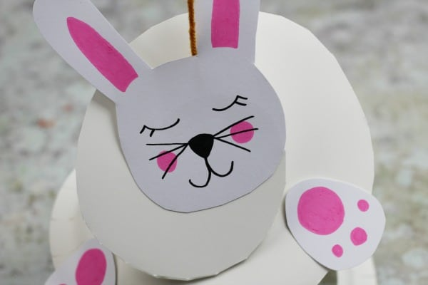 paper plate rabbit craft scissor skills