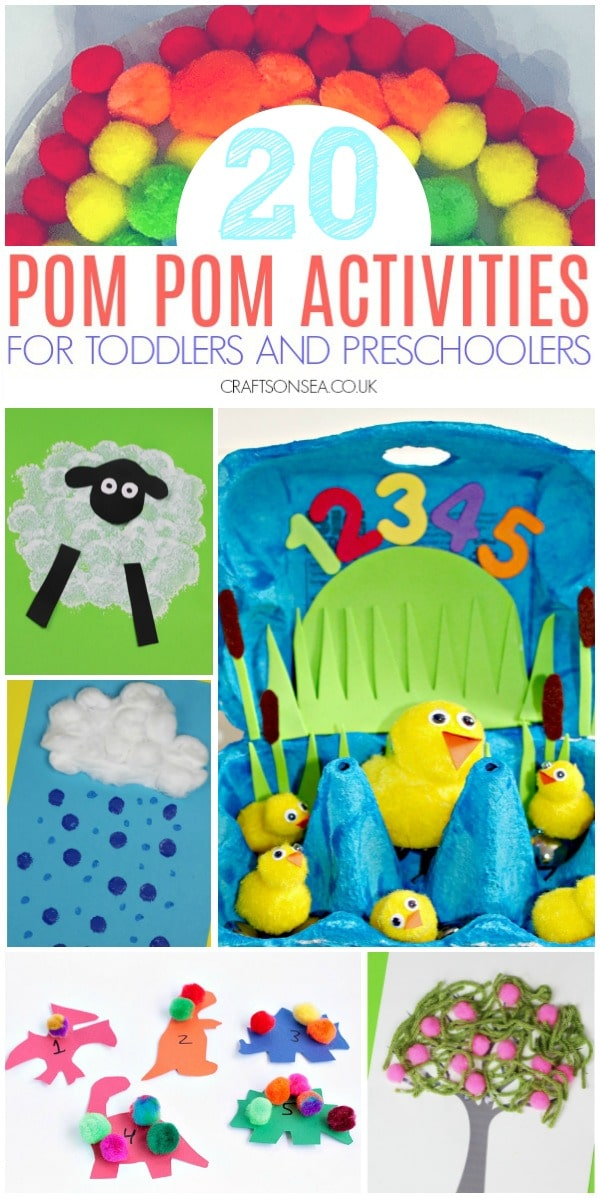 pom pom crafts and activities for toddlers and preschoolers
