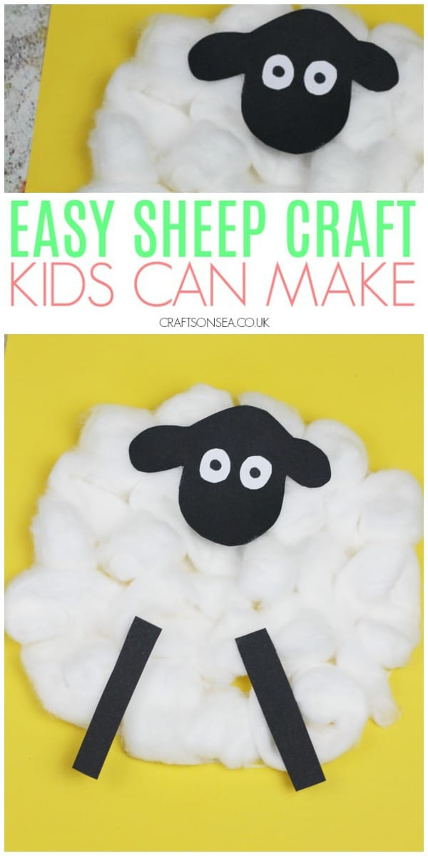 sheep craft for kids preschool toddler