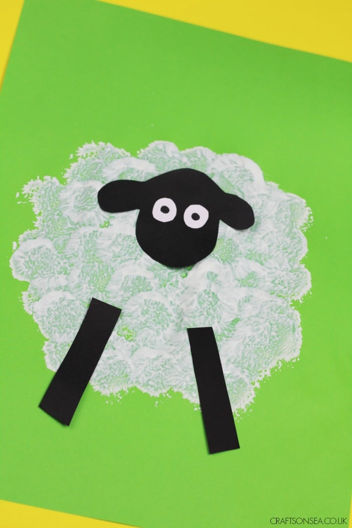 sheep craft for toddlers preschool