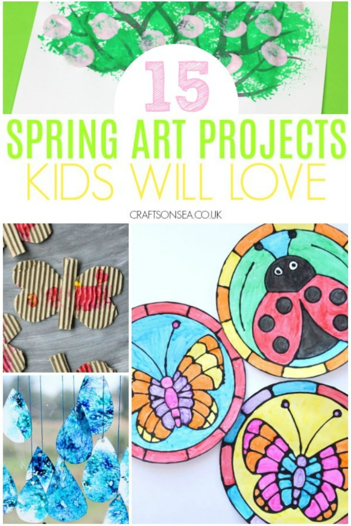 spring art projects for kids classroom and preschool butterflies trees