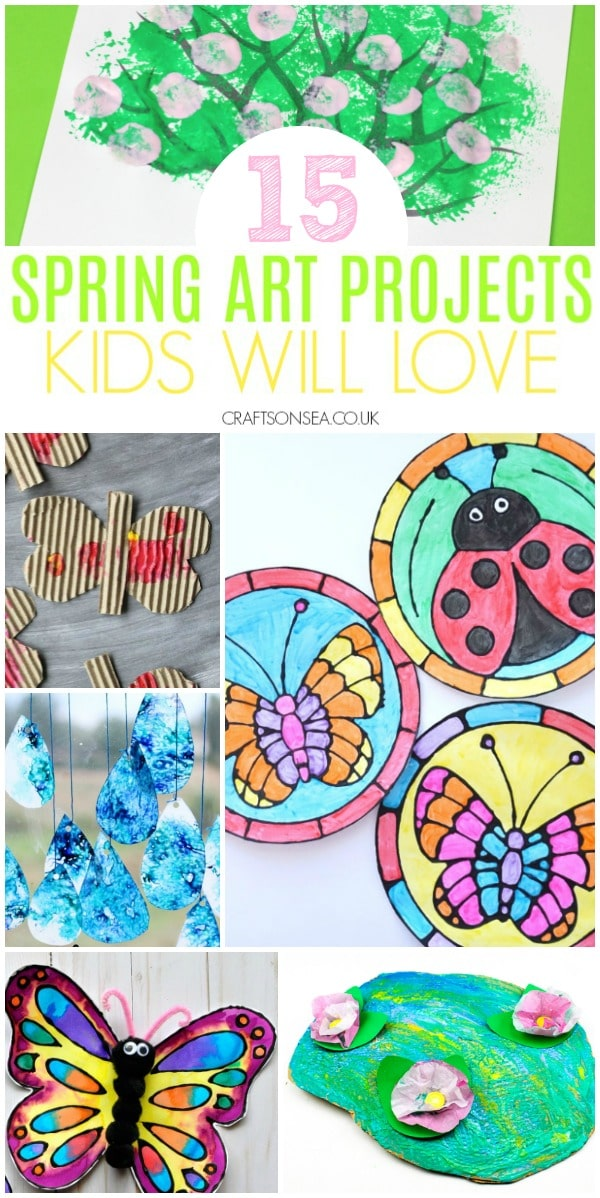 spring art projects for kids classroom and preschool butterflies weather flowers