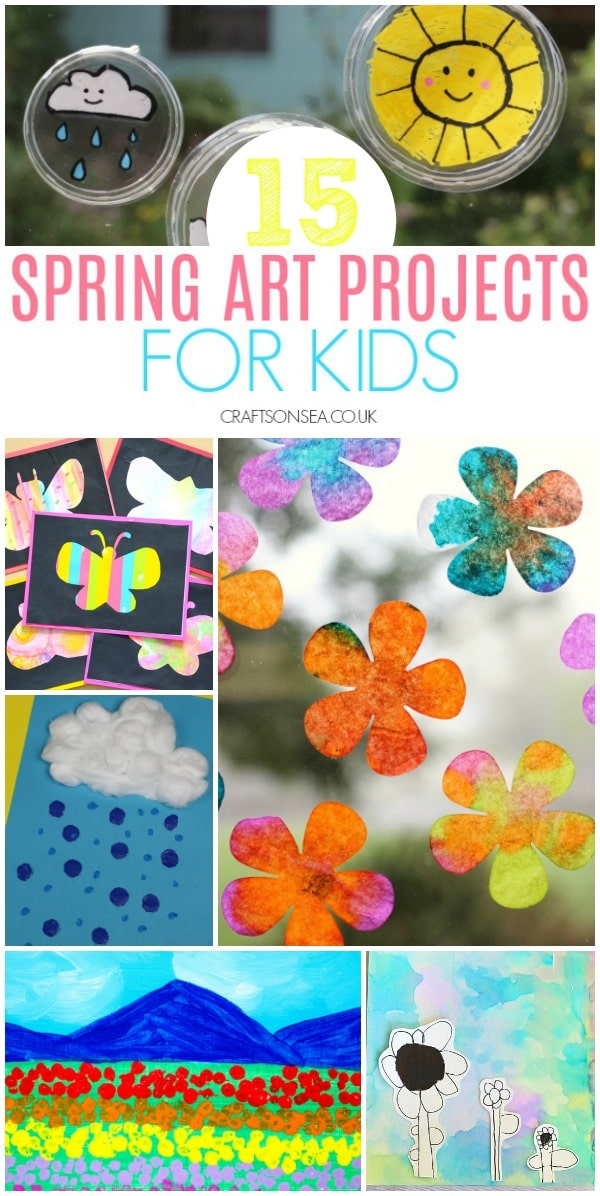 spring art projects for kids weather flowers butterflies