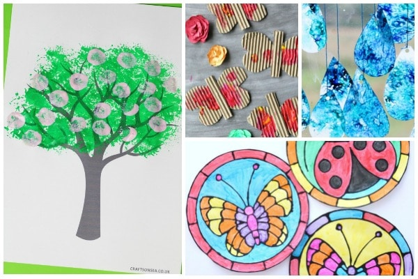 spring art projects kids can make