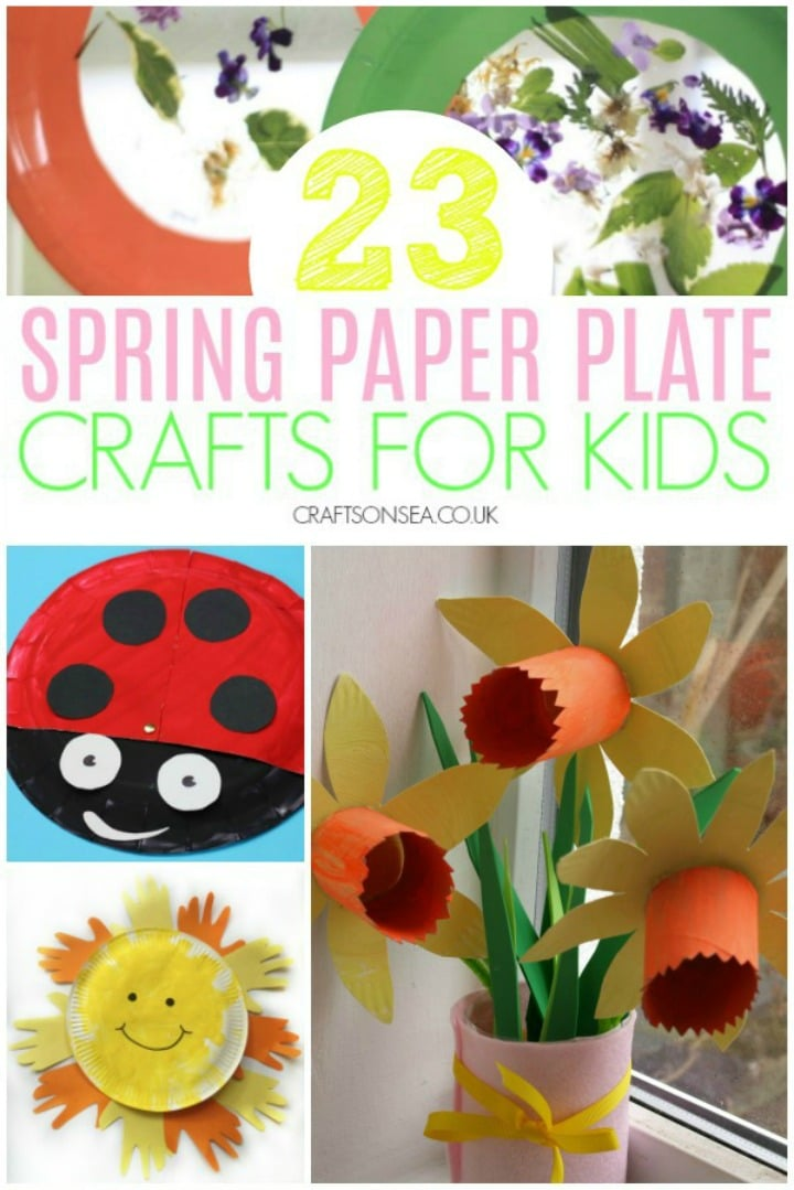 spring paper plate crafts for kids ladybird flowers