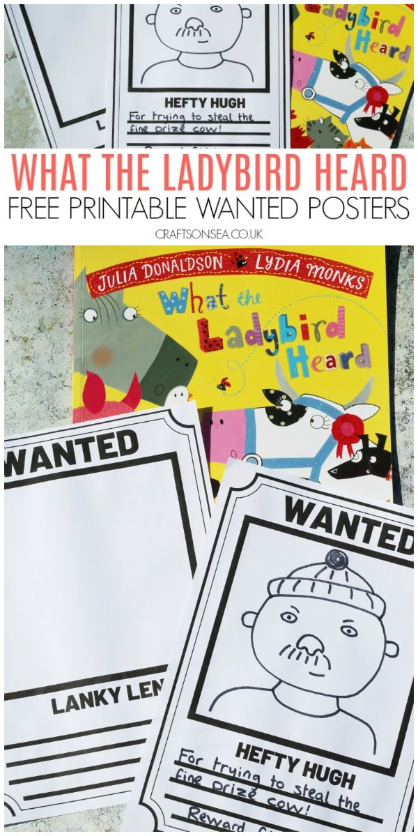 what the ladybird heard activities free wanted poster for kids literacy art