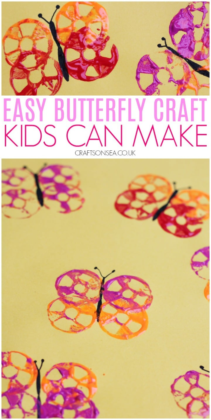 Super Easy Butterfly Craft Crafts On Sea