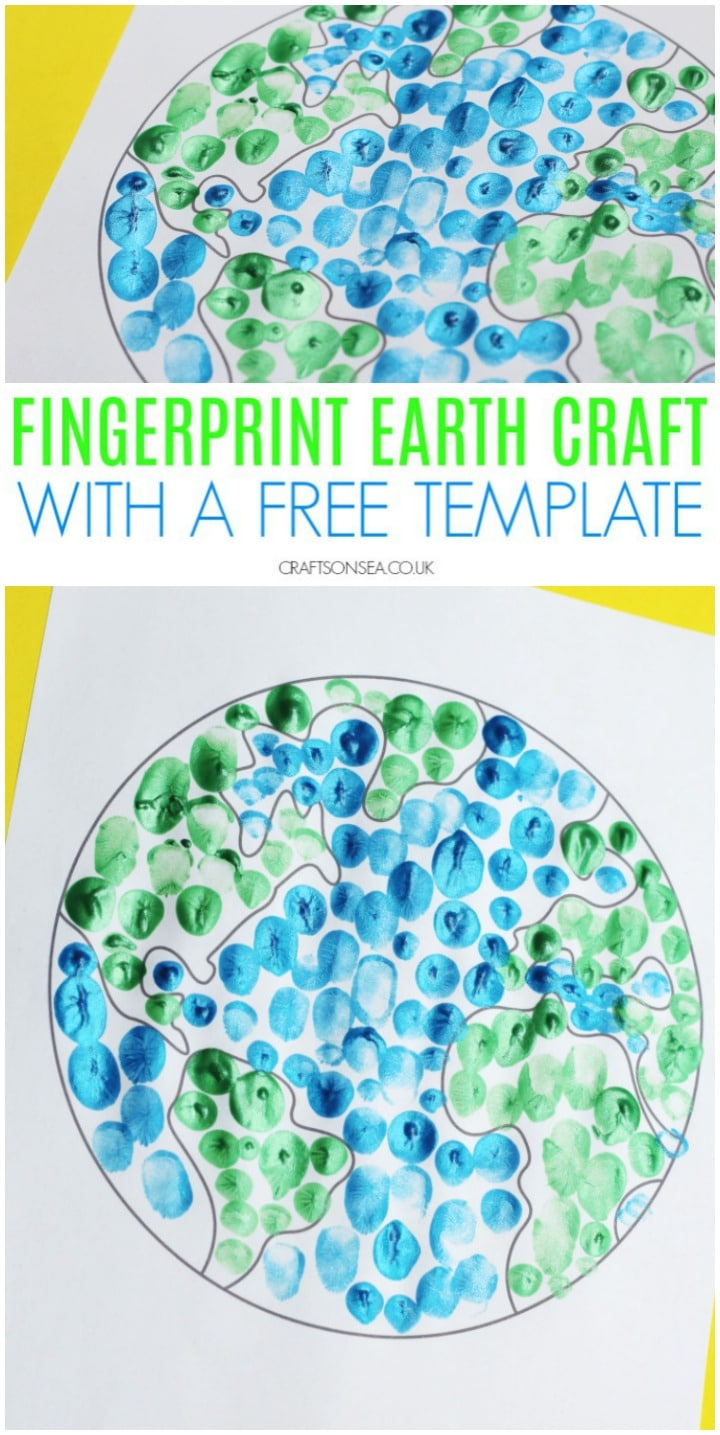 earth day crafts for kids preschool fingerprint activity