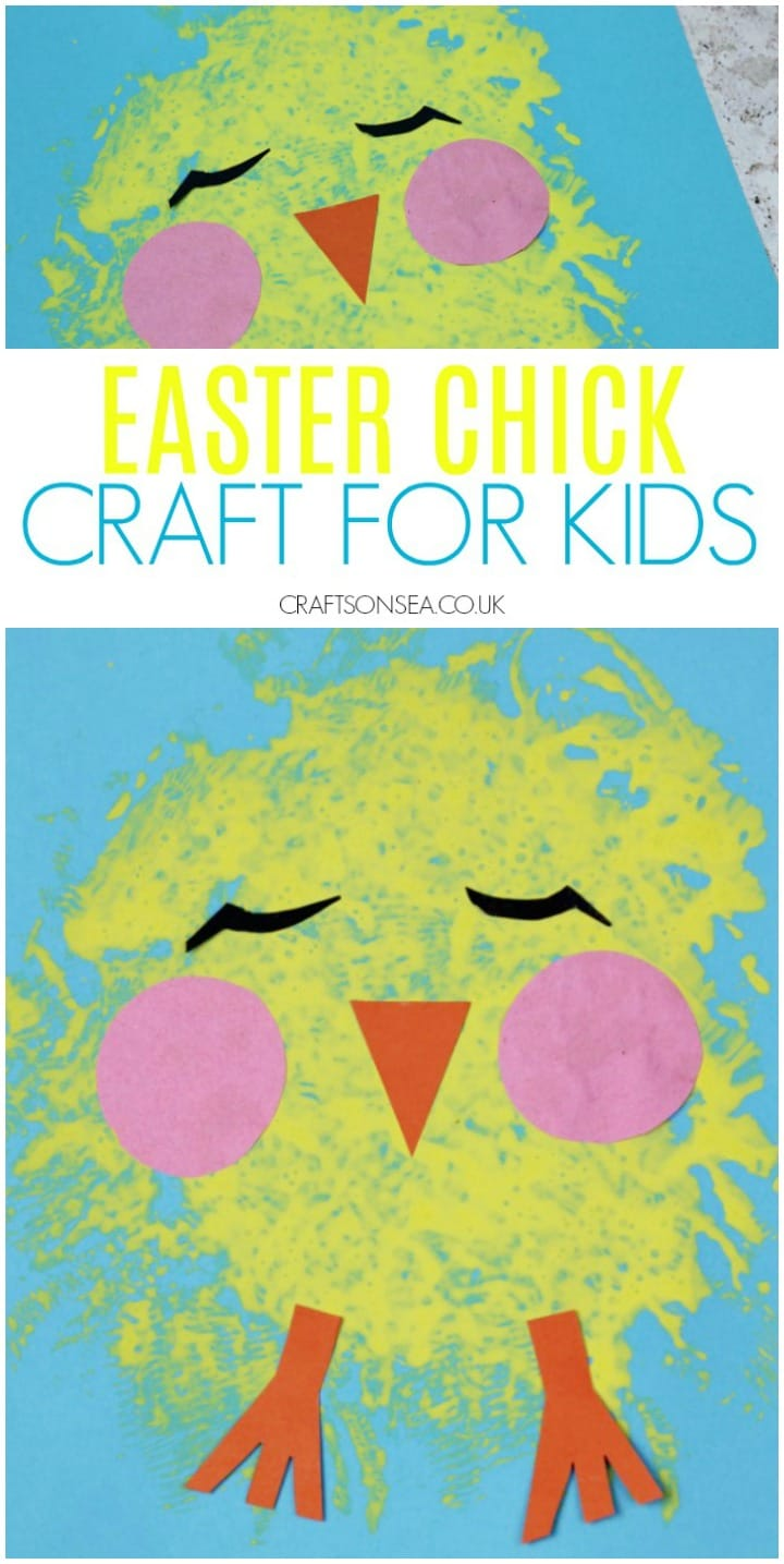easter chick craft for kids easy perfect for preschoolers