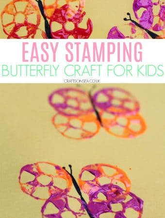 easy butterfly craft for kids toddlers preschool
