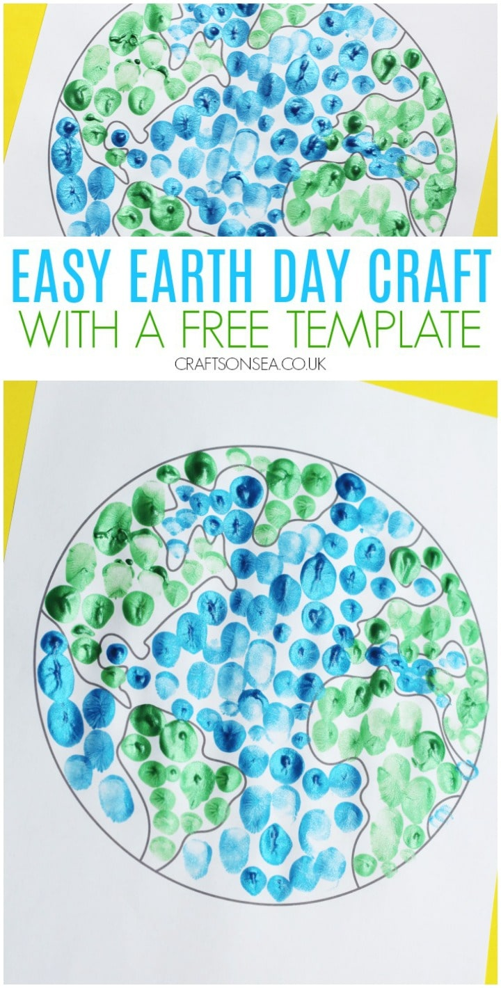 easy earth day craft finger painting