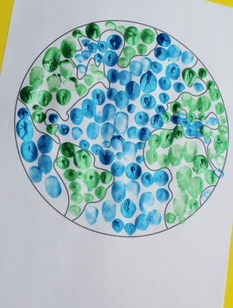 fingerprint earth day craft for kids