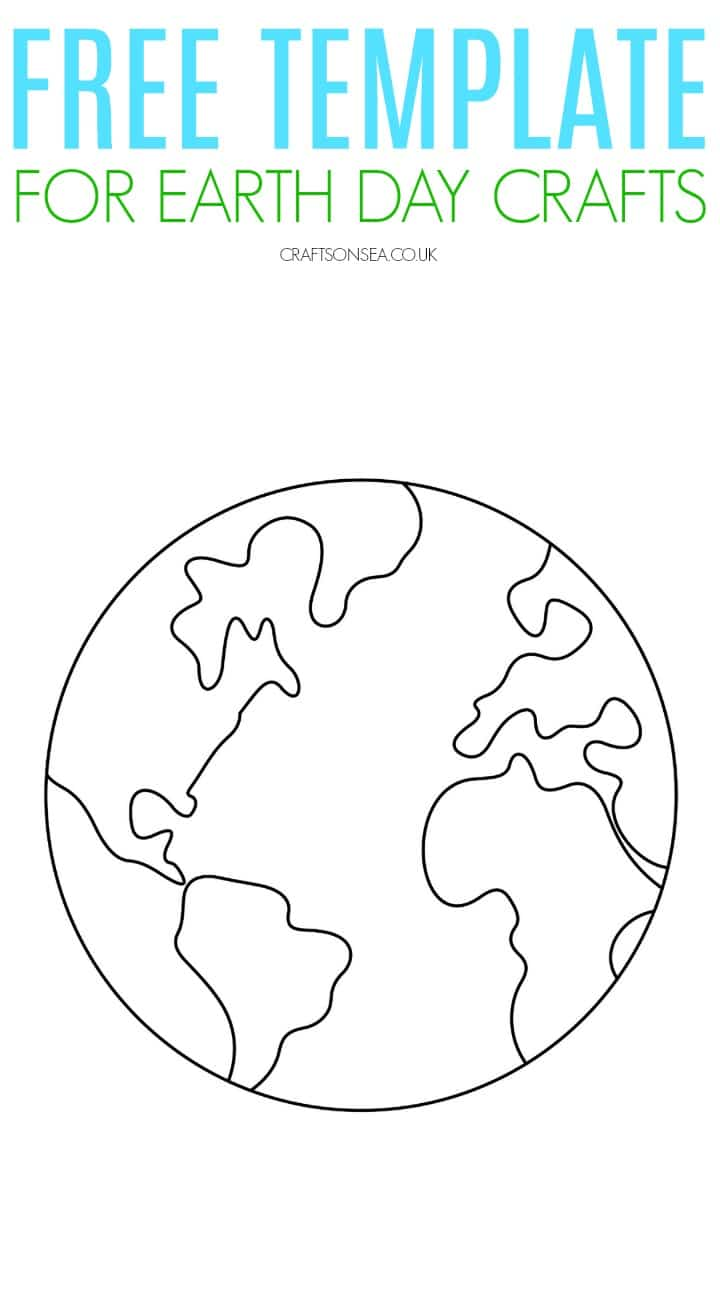 free earth day template for kids