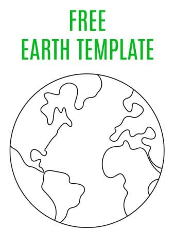 free earth template map for kids