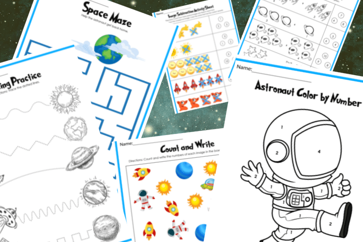 free printable space activities