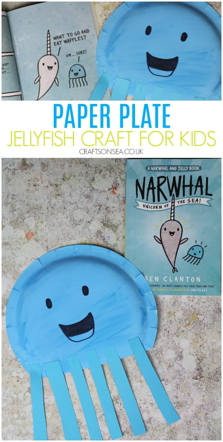 jellyfish craft for kids paper plate easy