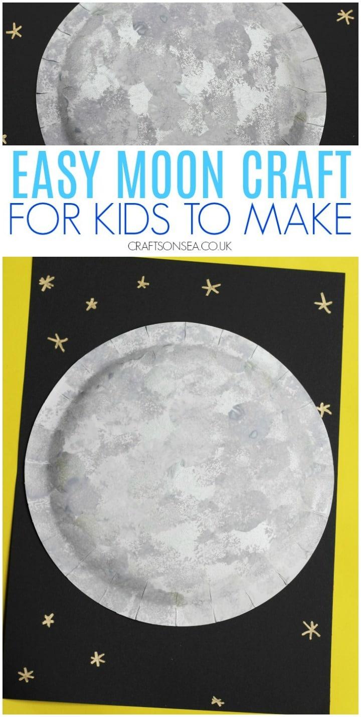moon craft for kids preschool toddlers