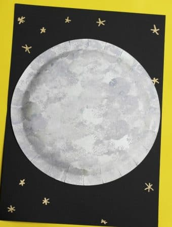 moon craft ideas pom pom painting