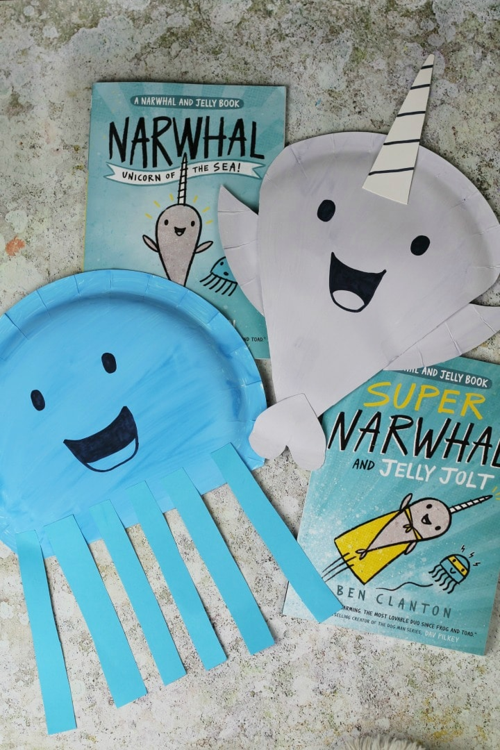 narwhal and jelly book craft for kids