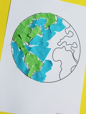 torn paper earth day craft for kids