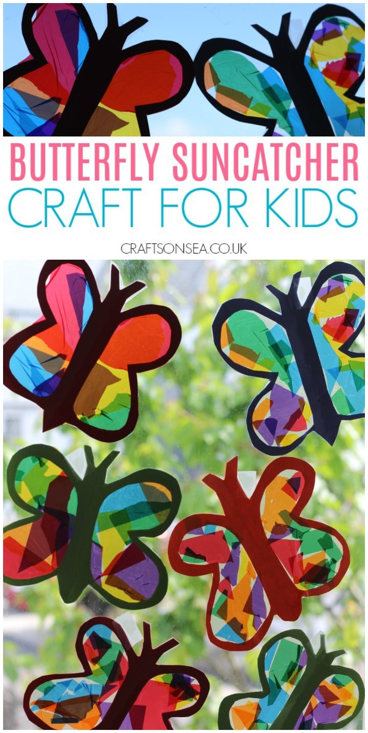 butterfly craft for kids suncatchers