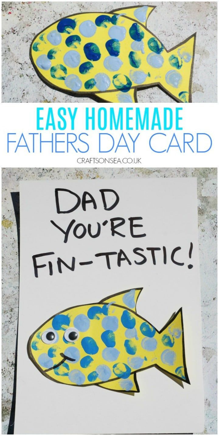 easy homemade fathers day card kids can make fish