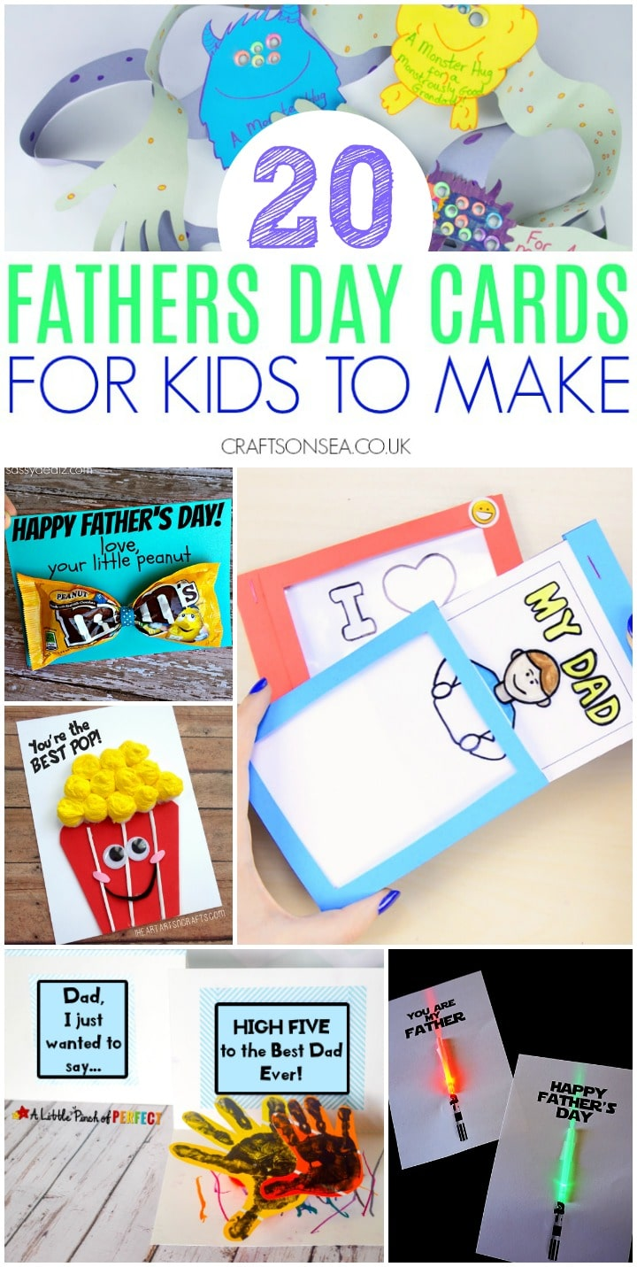 fathers day cards for kids to make fun