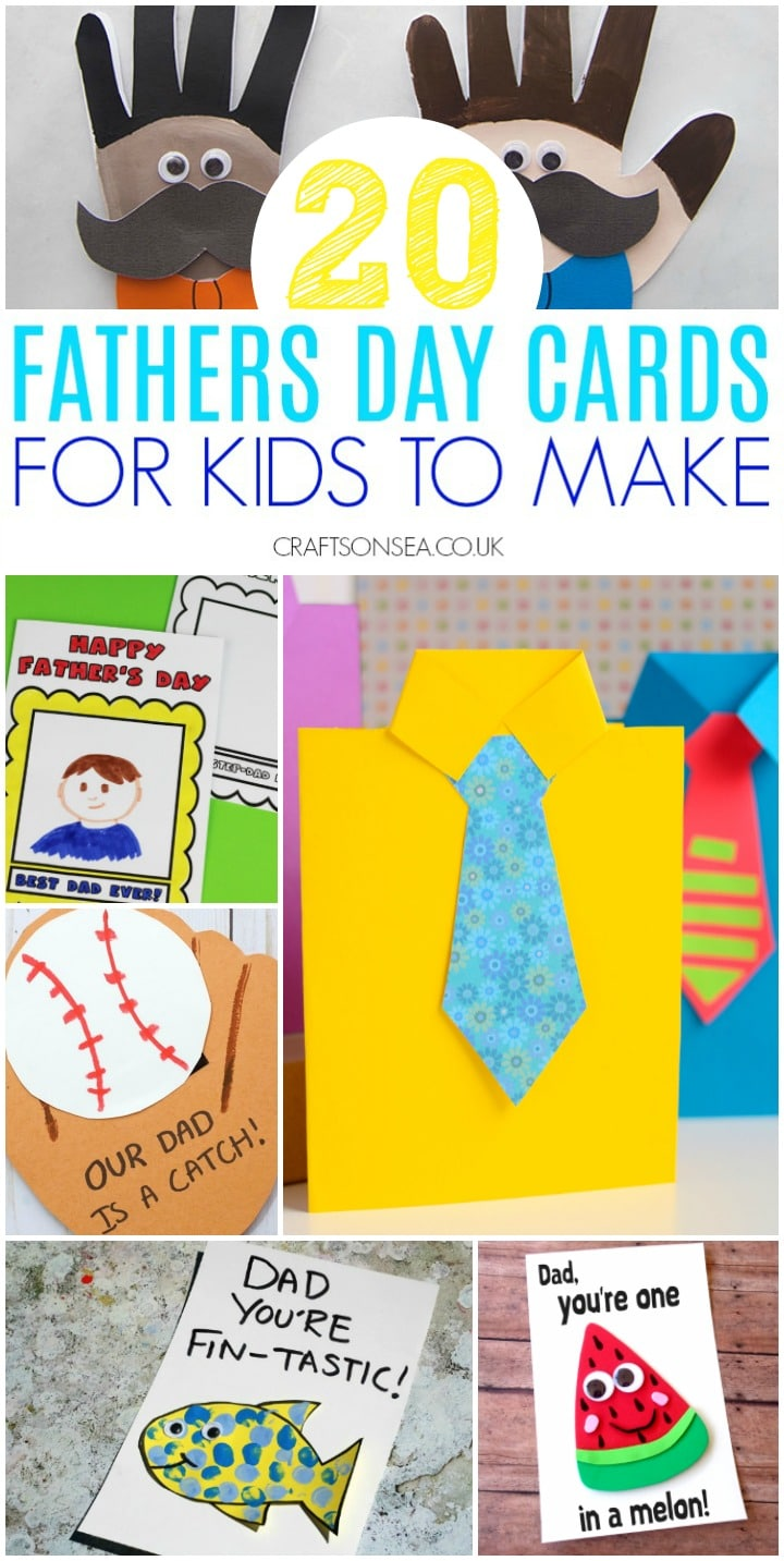 fathers day cards for kids to make homemade