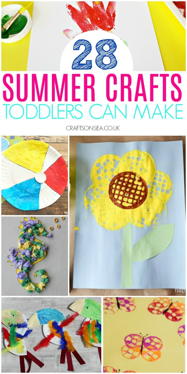 summer crafts for toddlers ocean themes butterflies flowers
