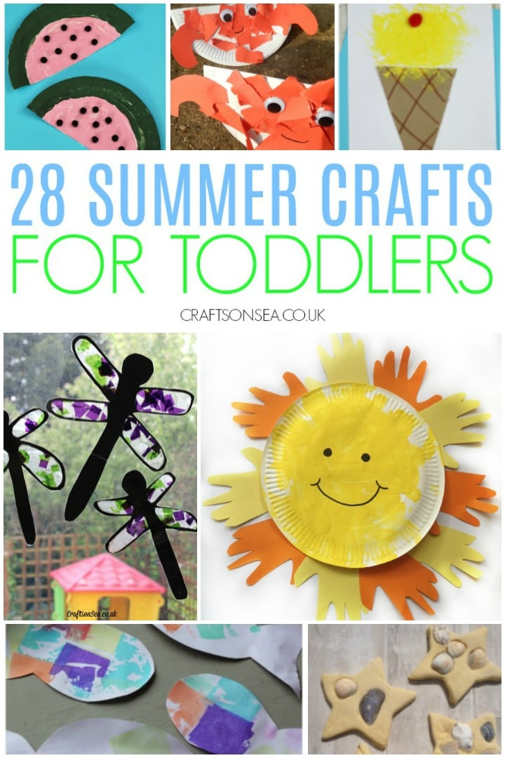 summer crafts for toddlers to make sun crafts, under the sea, dragonflies