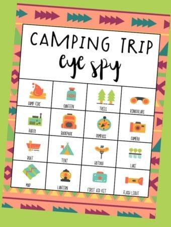 free camping i-spy printable