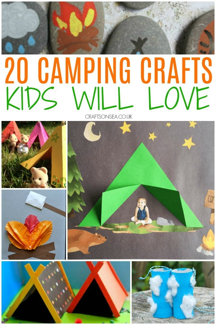 camping crafts for kids tent crafts campfire crafts painted rocks
