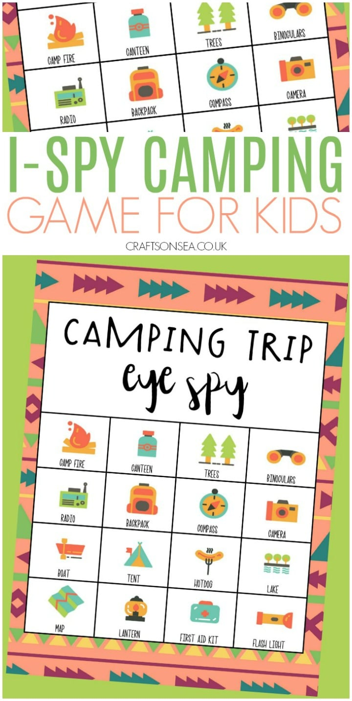 camping game for kids i-spy free printable