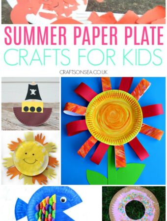 paper plate crafts for kids sun flower fish donut
