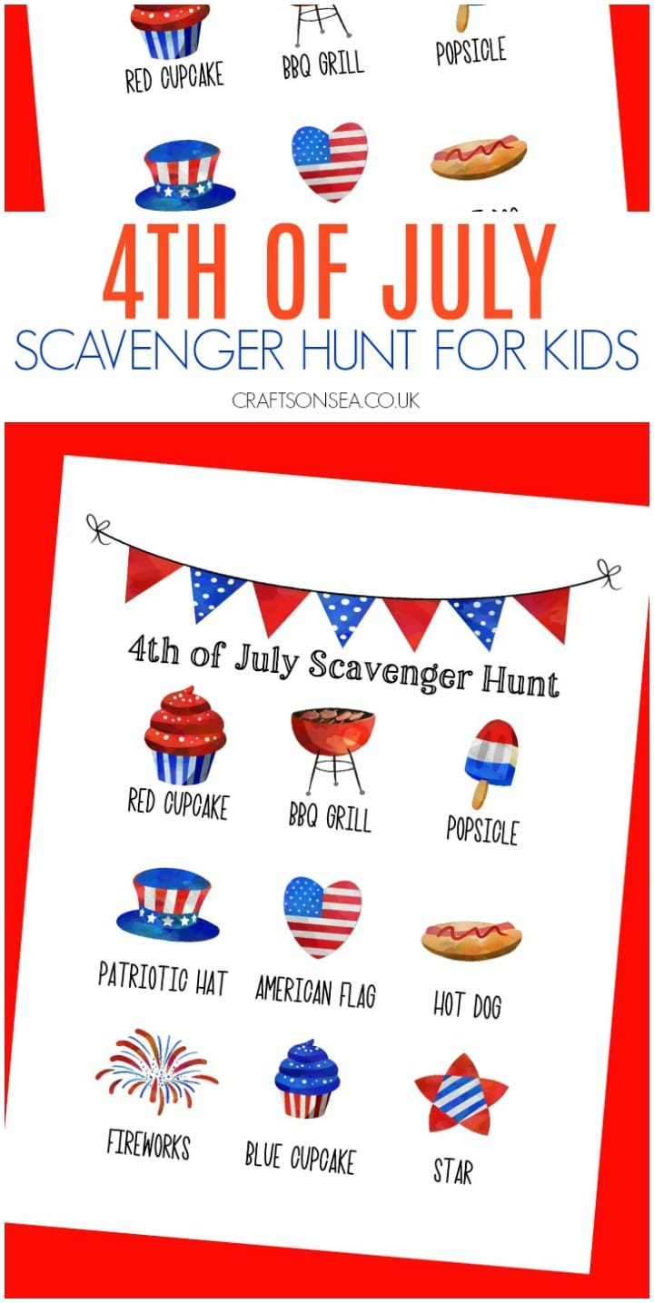 free 4th of july scavenger hunt for kids printable