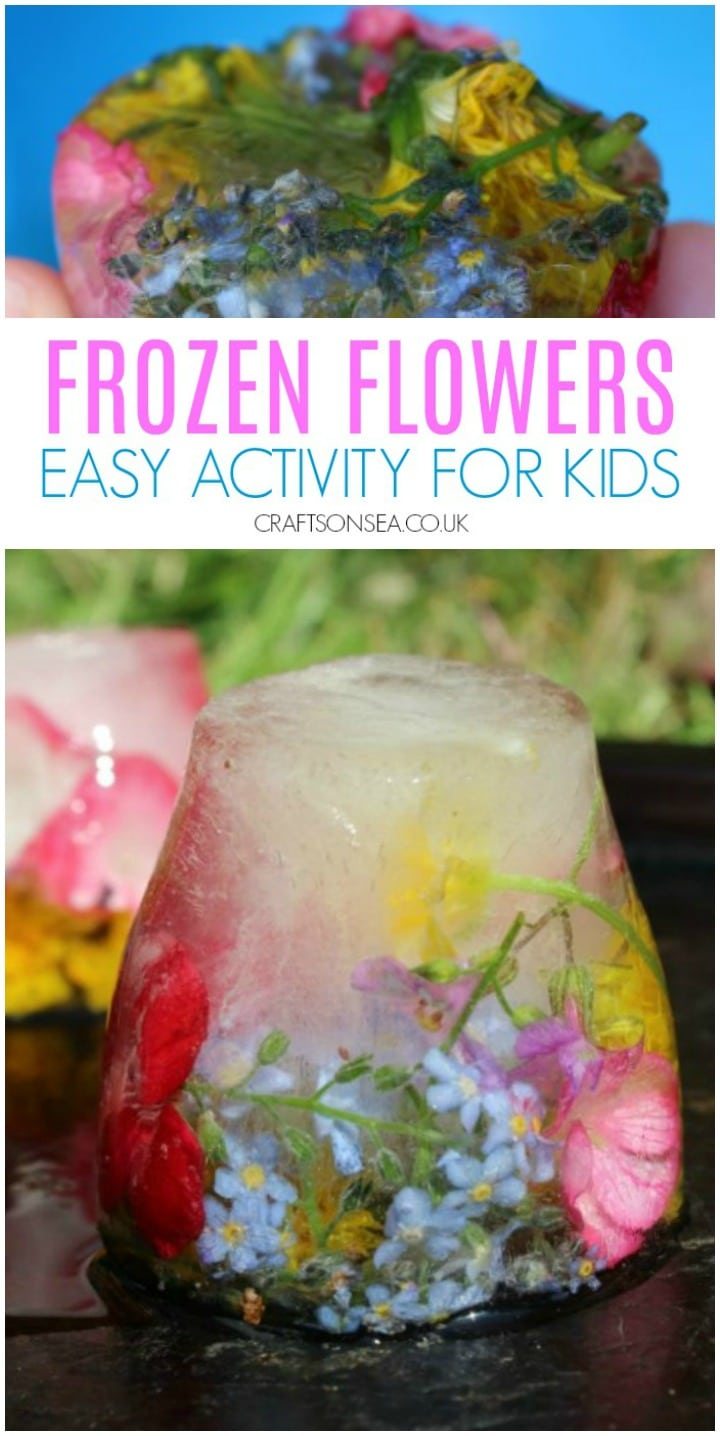 frozen flowers easy sensory play activity for kids