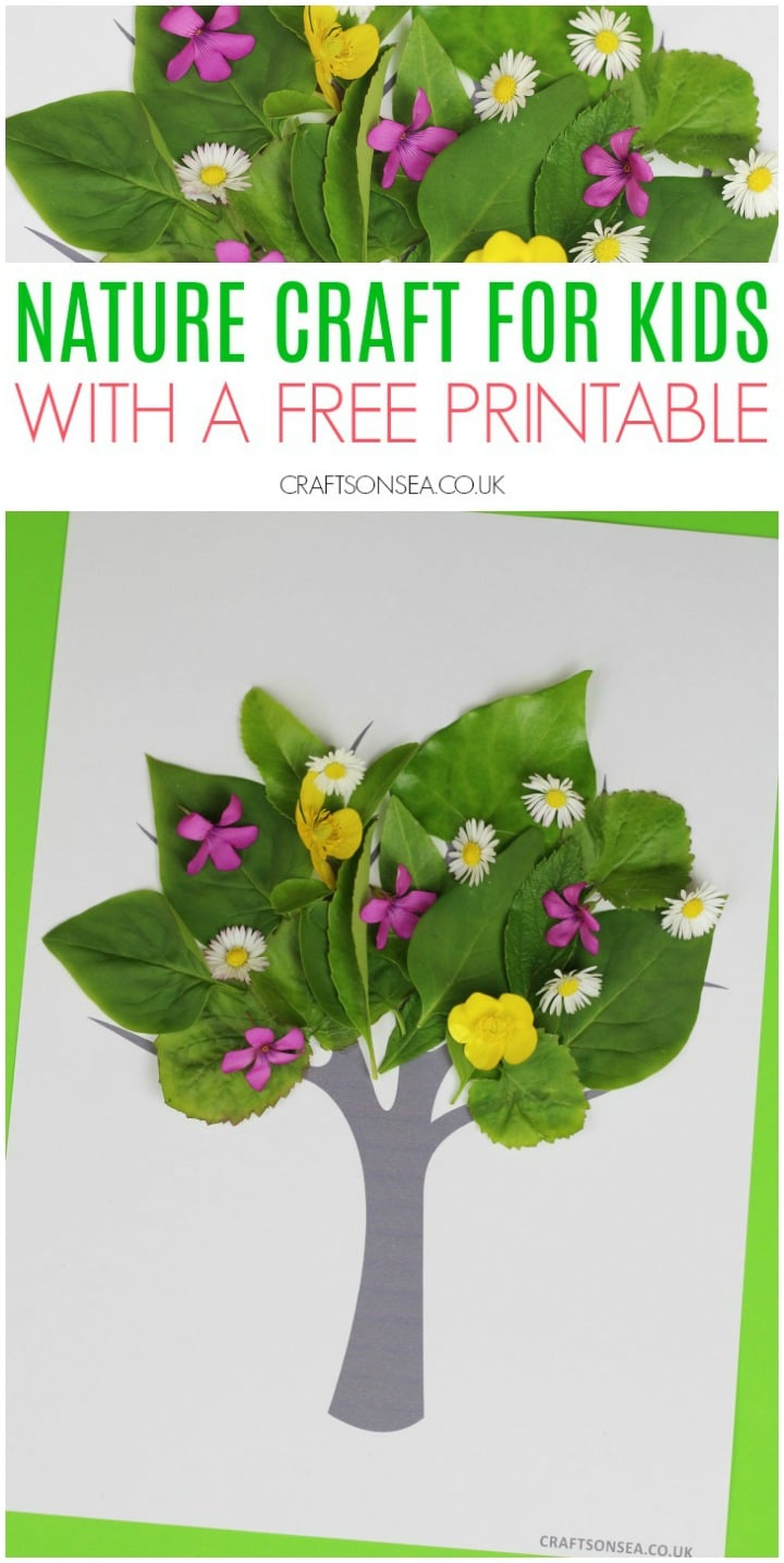 nature craft for kids easy spring summer free printable