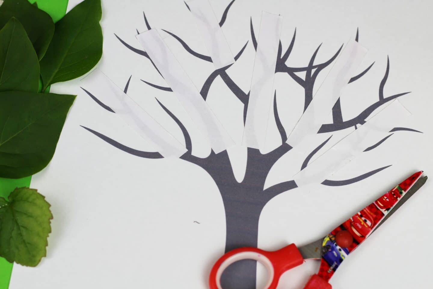 nature craft for kids tree free printable