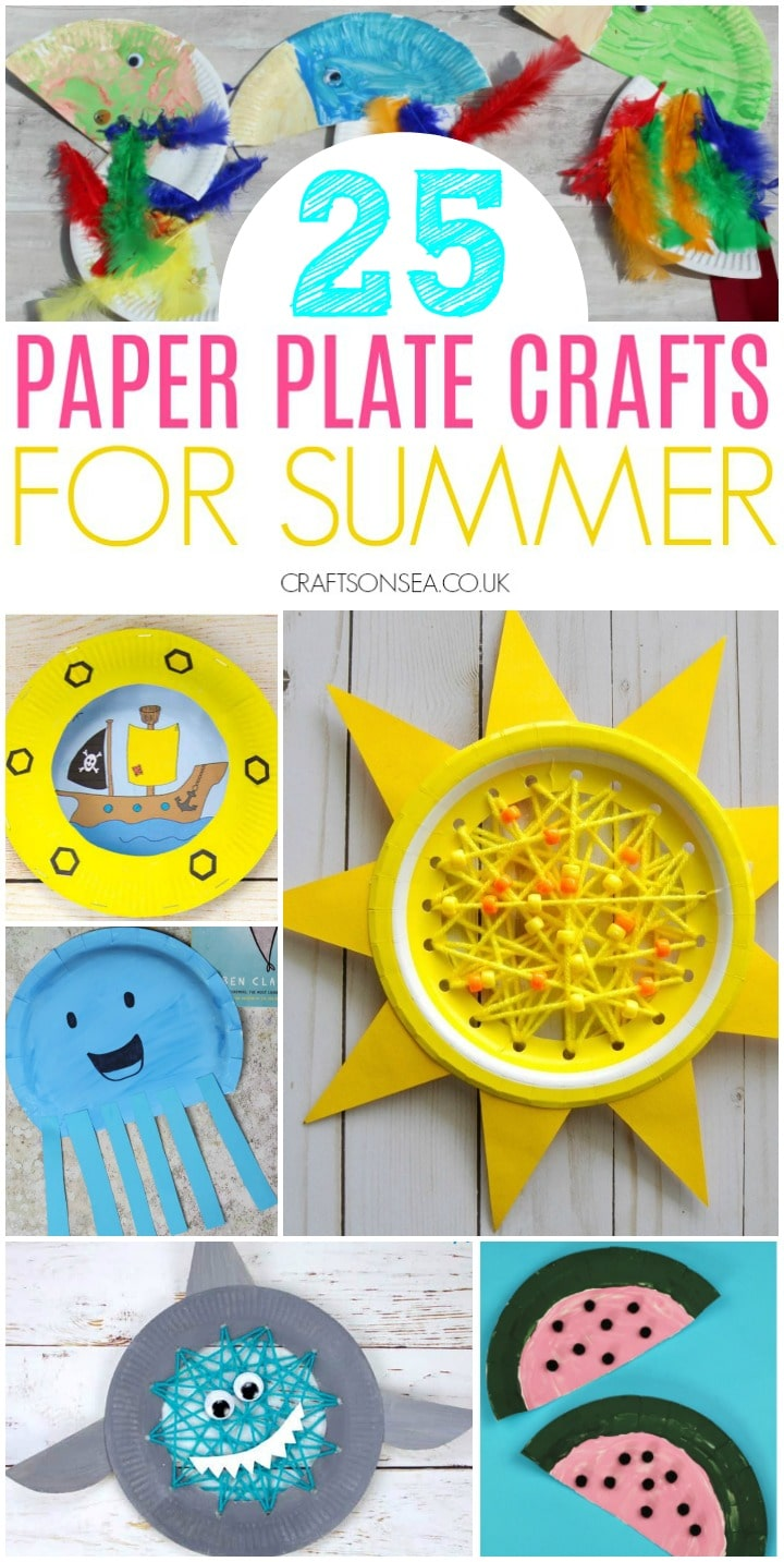 paper plate crafts for kids summer sun jellyfish boat
