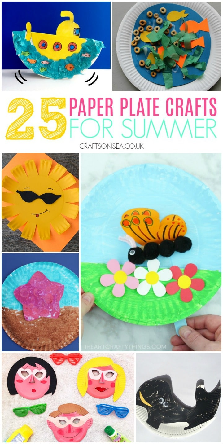 summer crafts for kids easy paper plates butterfly sun