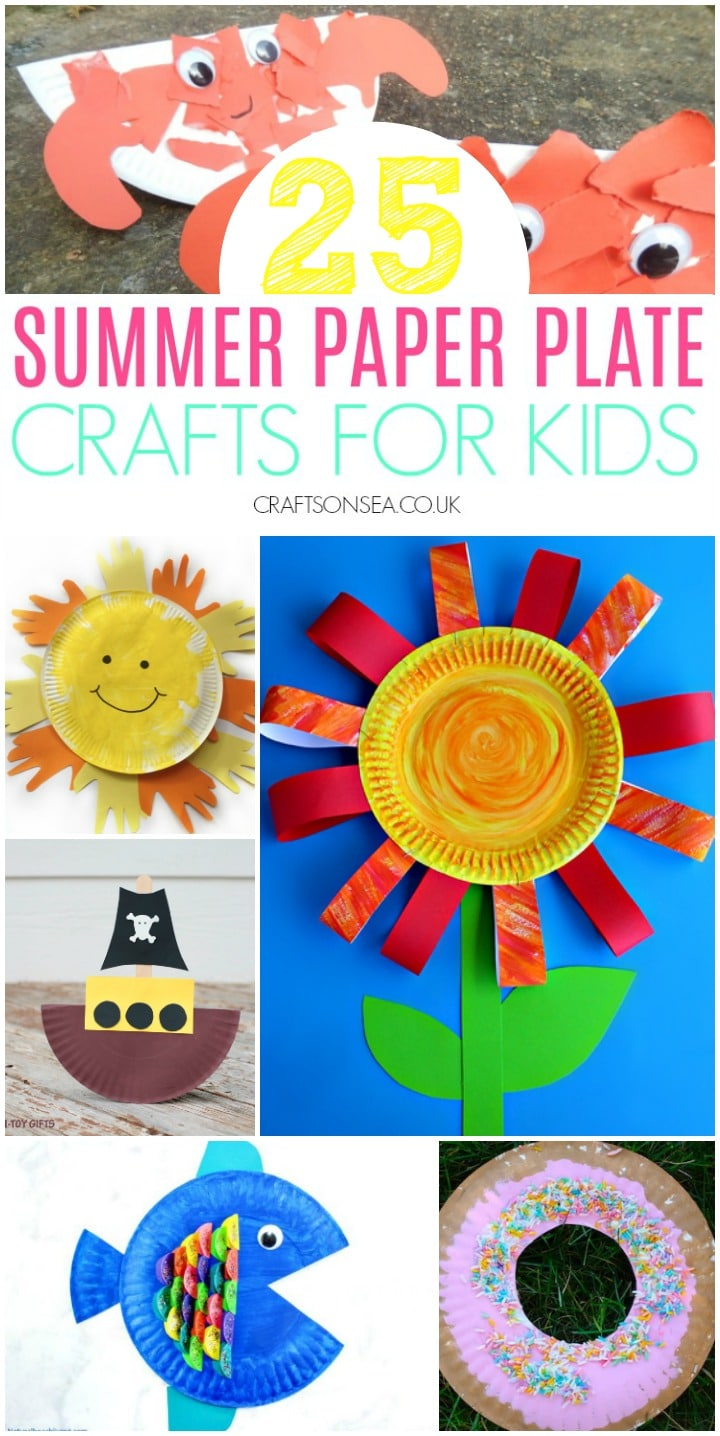 summer paper plate crafts for kids fun