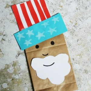 uncle sam craft paper bag
