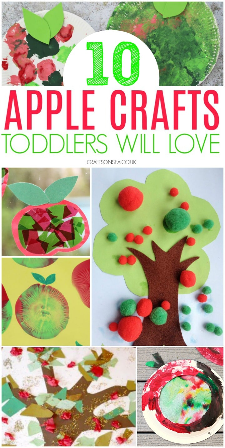 apple crafts for toddlers preschoolers