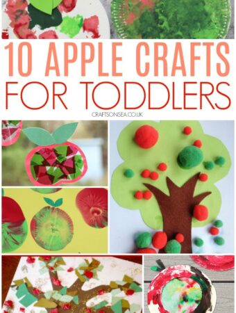apple crafts for toddlers to make easy