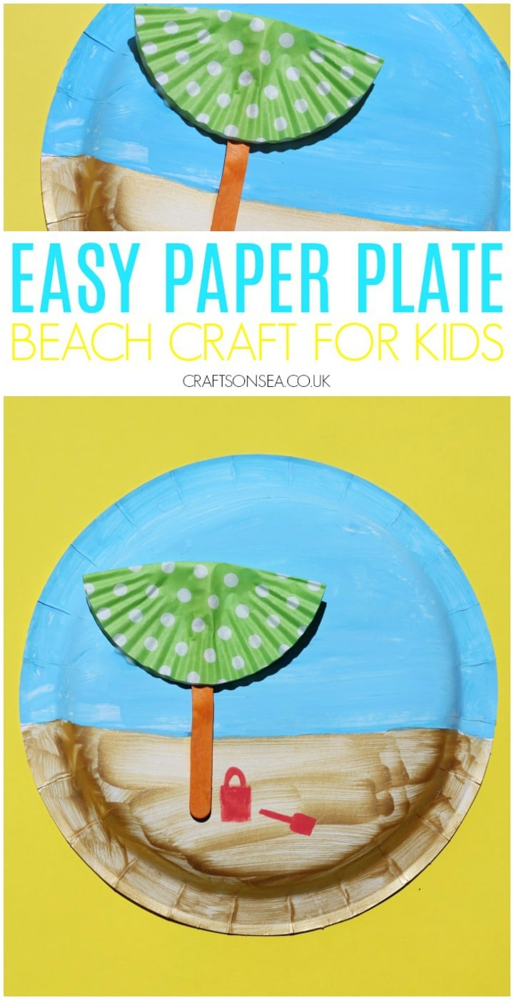 beach craft for kids easy paper plate