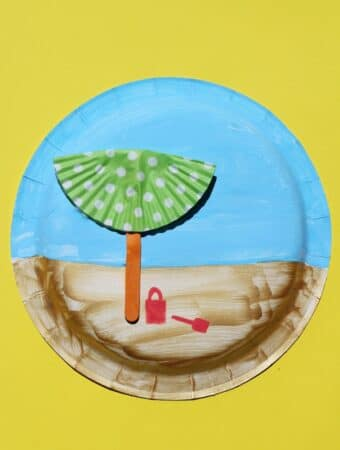 easy paper plate beach craft for kids